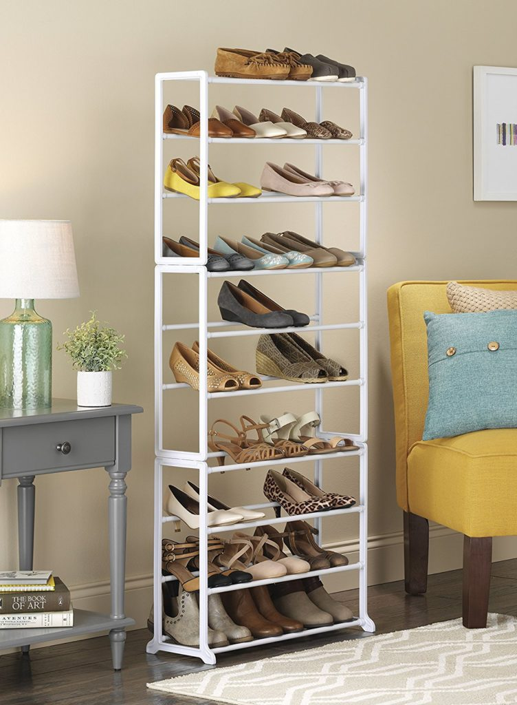 a rack is a perfect choice for the closet if you donu0027t want to keep your shoes where everyone can see them shorter racks can often fit right
