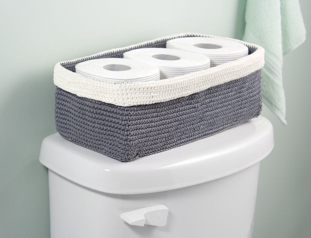 how to keep toilet paper organized
